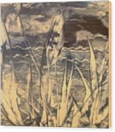 Sea View Wood Print