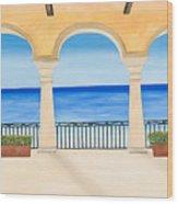 Sea View  Wood Print