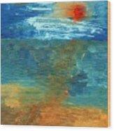 Sea Was Wood Print