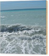 Sea Waves In Italy Wood Print