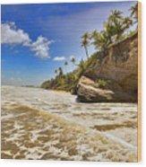 Sea Waves Wood Print
