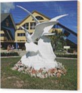 Seabird Statue Wood Print