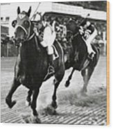 Seabiscuit And George Woolf Lead War Admiral And Jockey Charles Kursinger In The First Turn, Pimlico Wood Print
