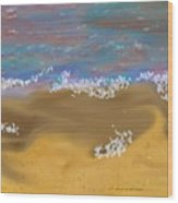 Sea.breeze.wet Sand. Wood Print