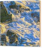 Seafoam Wood Print