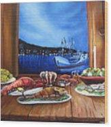 Seafood Feast Wood Print
