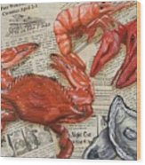 Seafood Special Edition Wood Print by JoAnn Wheeler