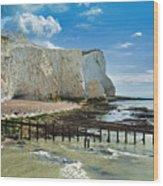 Seaford Cliffs Wood Print