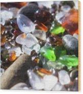 Seaglass Background Wood Print