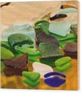 Seaglass Reflections Wood Print