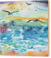 Seagull Seas Wood Print