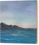 Seagull Seascape Wood Print