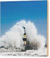 Seaham Storm Wood Print