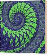 Seahawks Spiral Wood Print