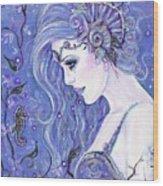 Seahorse Dreams Mermaid Wood Print