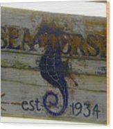 Seahorse Est. 1934 Wood Print