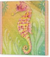 Seahorse Pink Wood Print