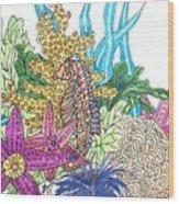 Seahorse Sanctuary  Wood Print