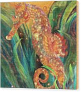 Seahorse - Spirit Of Contentment Wood Print