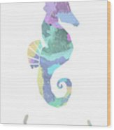 Seahorse Watercolour Wood Print