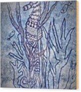 Seahorse World Wood Print