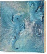 Seahorses In Love 1 Wood Print
