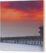 Seal Beach Pier Wood Print
