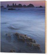 Seal Rock Glow Wood Print