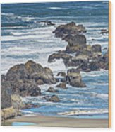 Seal Rock Seascape Wood Print