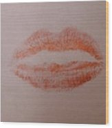 Sealed With A Red Kiss Wood Print