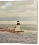 Seamans Light Wood Print