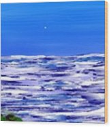 Sea.moon Light Wood Print