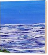 Sea.moon Light Wood Print