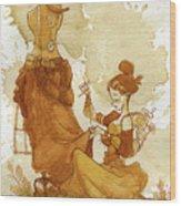 Seamstress Wood Print