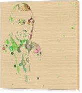 Sean Connery Wood Print by Naxart Studio
