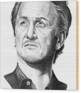 Sean Penn Wood Print