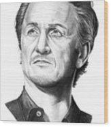 Sean Penn Wood Print