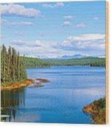 Seaplane On Talkeetna Lake, Alaska Wood Print