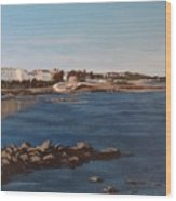 Seapoint From Salthill Wood Print