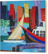 Seaport Wood Print