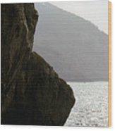 Seascape Silver Light Wood Print