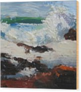 Seascape Aceo  Wood Print