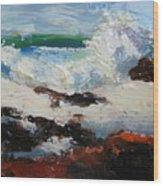 Seascape Aceo  Wood Print