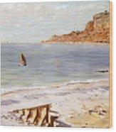 Seascape At Sainte Adresse  Wood Print