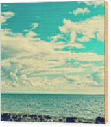 Seascape Cloudscape Instagramlike Wood Print