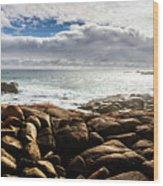 Seascape In Harmony Wood Print