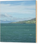 Seascape In Iceland On Summer  Wood Print