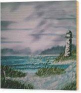 Seascape Lighthouse Wood Print