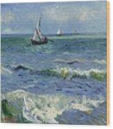 Seascape Near Les Saintes Maries De La Mer Arles June 1888 Vincent Van Gogh 1853  1890 Wood Print