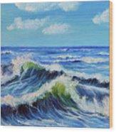 Seascape No.3 Wood Print